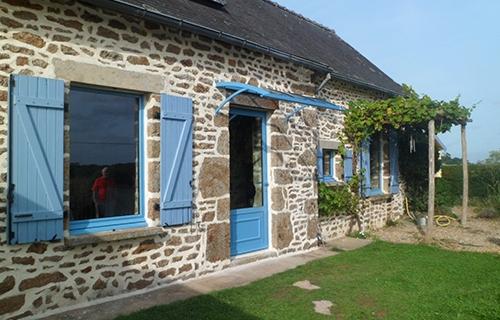 photo d'un trianon bleu