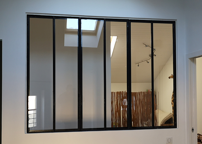 Verrière aluminium style atelier